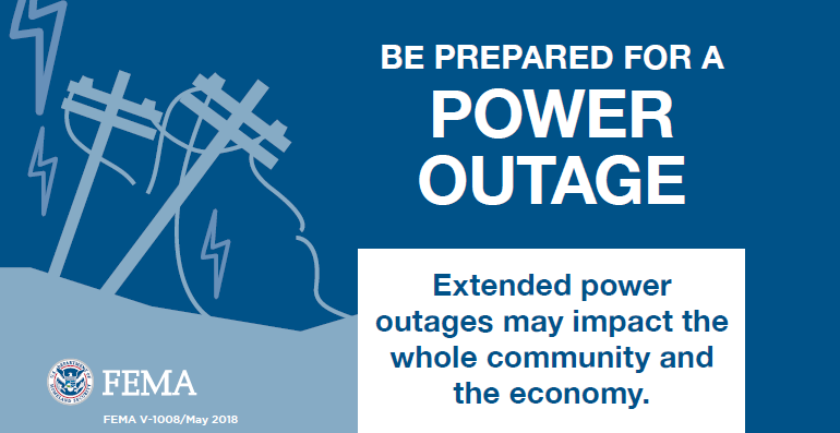 fema graphic about power outage preparation
