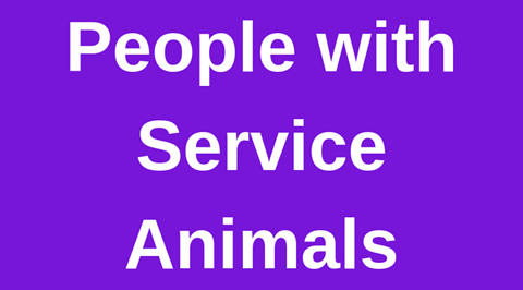 People with Service Animals