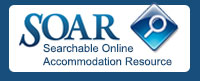 Searchable Online Accommodation Resource (SOAR) logo
