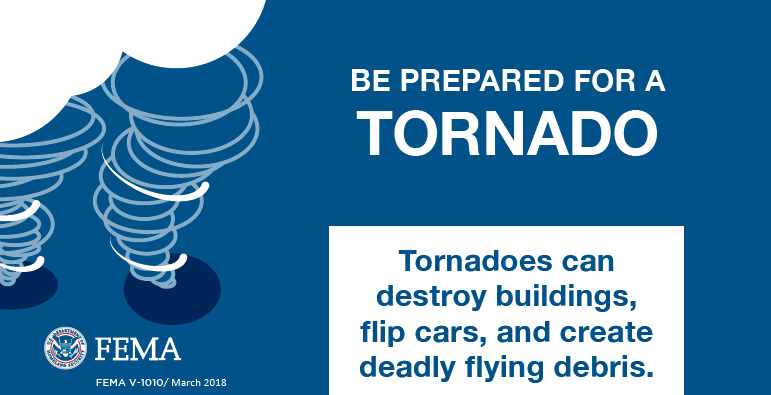 fema graphic about tornado preparation