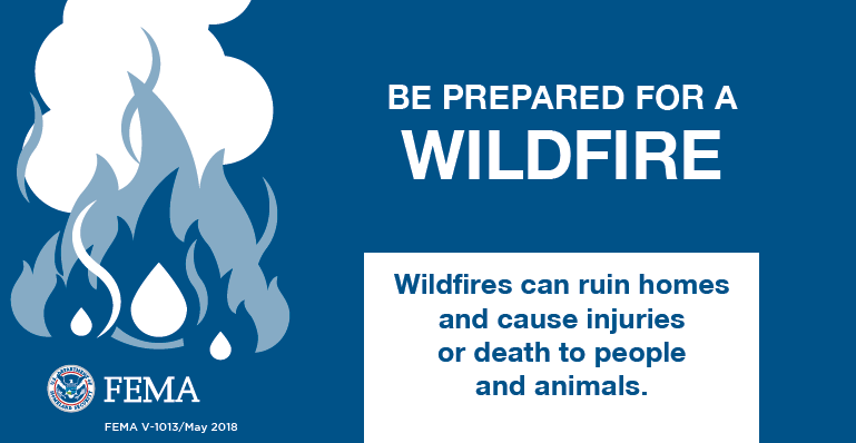 fema graphic about wildfire preparation